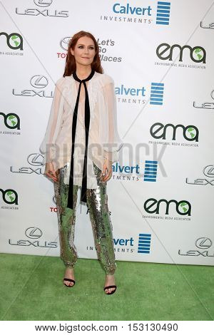 LOS ANGELES - OCT 22:  Darby Stanchfield at the 26th Annual Environmental Media Awards at Warner Brothers Studio on October 22, 2016 in Burbank, CA