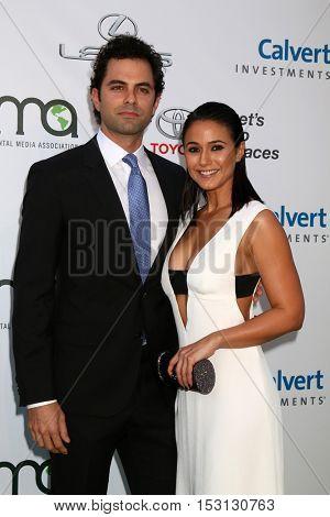 LOS ANGELES - OCT 22:  Adrian Bellani, Emmanuelle Chriqui at the 26th Annual Environmental Media Awards at Warner Brothers Studio on October 22, 2016 in Burbank, CA