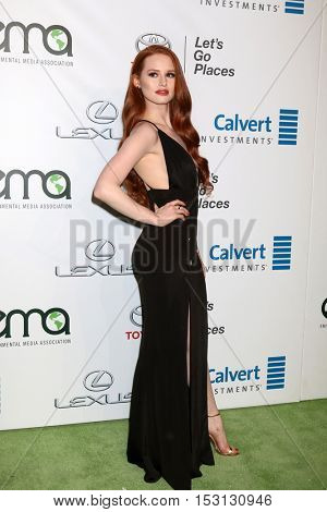 LOS ANGELES - OCT 22:  Madelaine Petsch at the 26th Annual Environmental Media Awards at Warner Brothers Studio on October 22, 2016 in Burbank, CA