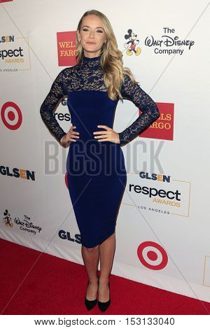 LOS ANGELES - OCT 21:  Olivia Jordan at the 2016 GLSEN Respect Awards at Beverly Wilshire Hotel on October 21, 2016 in Beverly Hills, CA