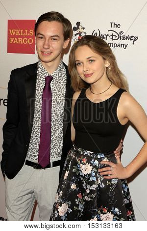 LOS ANGELES - OCT 21:  Hayden Byerly, Alyssa Jirrels at the 2016 GLSEN Respect Awards at Beverly Wilshire Hotel on October 21, 2016 in Beverly Hills, CA