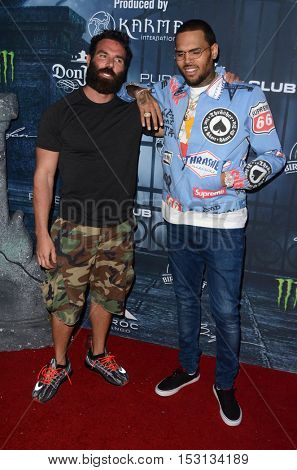LOS ANGELES - OCT 22:  Dan Bilzerian, Chris Brown at the 2016 Maxim Halloween Party at Shrine Auditorium on October 22, 2016 in Los Angeles, CA