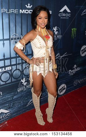 LOS ANGELES - OCT 22:  Karrueche Tran at the 2016 Maxim Halloween Party at Shrine Auditorium on October 22, 2016 in Los Angeles, CA