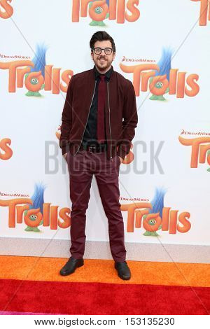 LOS ANGELES - OCT 23:  Christopher Mintz-Plasse at the Trolls Premiere at Village Theater on October 23, 2016 in Westwood, CA