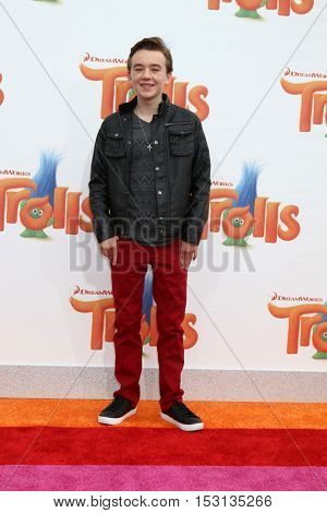 LOS ANGELES - OCT 23:  Benjamin Stockham at the Trolls Premiere at Village Theater on October 23, 2016 in Westwood, CA