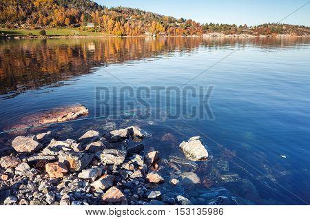 Norwegian Landscape With Coastal Rocks