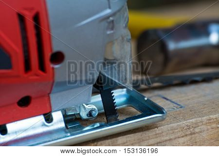 Jig saw machine equipment use for background