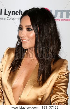 LOS ANGELES - OCT 23:  Shay Mitchell at the 2016 Outfest Legacy Awards at Vibiana on October 23, 2016 in Los Angeles, CA