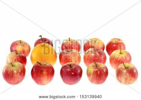 image one large orange and red apples