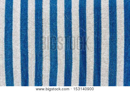 Texture woven polypropylene mesh with blue and white stripes
