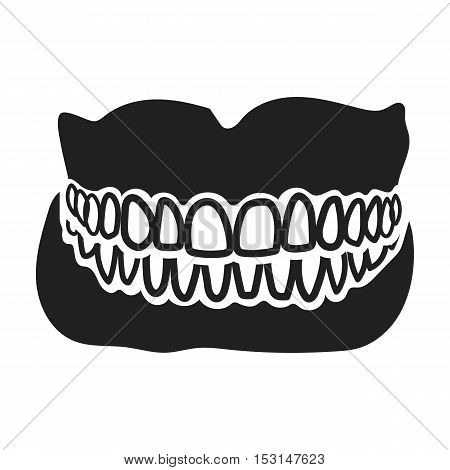 Jaw icon in black style isolated on white background. Medicine and hospital symbol vector illustration.