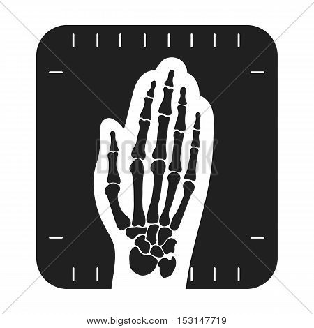 X-ray hand icon in black style isolated on white background. Medicine and hospital symbol vector illustration.