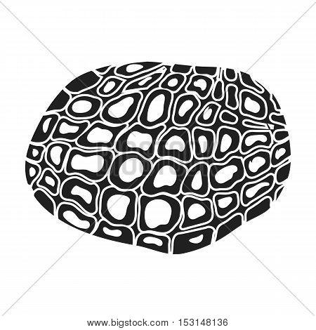 Black truffles icon in black style isolated on white background. Mushroom symbol vector illustration.