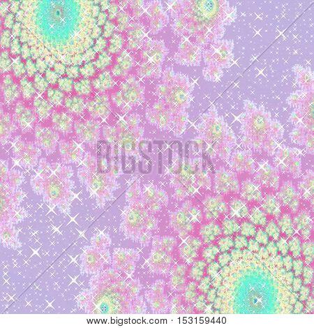 Beautiful sparkling girls princess pink purple turquoise background