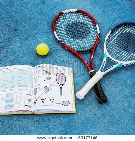 Racket Tennis Ball Book Guideline Sport Concept
