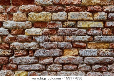 abstract background with old brick wall .