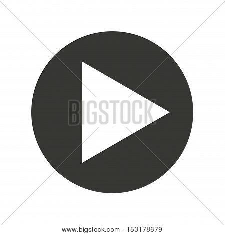 play movie button flat icon vector illustration design