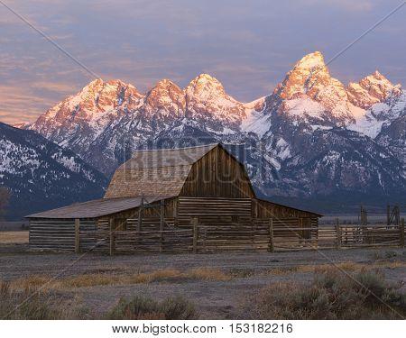 Moulton Barn on Mormon Row in Grand Teton