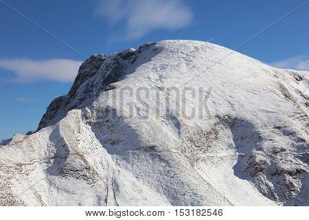 Grosser Daumen Mountain in Oberstdorf. Bavaria. Germany