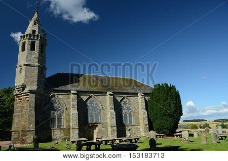 An external view of an old Church outside Dairisie