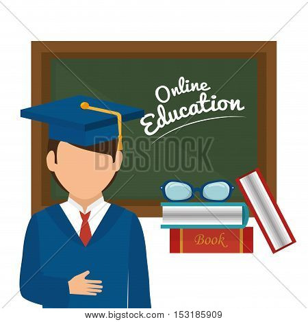 online education isolated icons vector illustration design