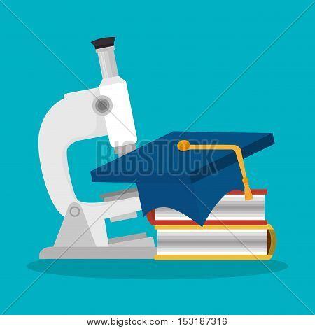 microscope lab device isolated icon vector illustration design