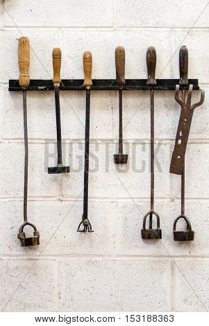 Shepherd's tools. Vintage tools used by the south american shepherds - Puerto Madryn - Argentina