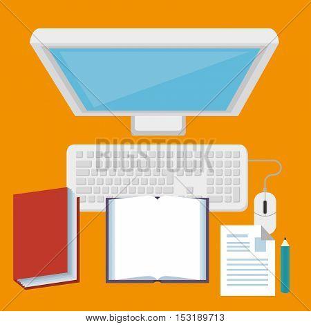 computer desktop technology isolated icon vector illustration design