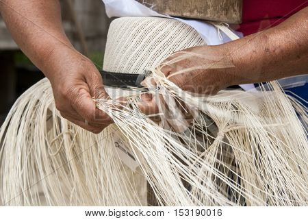 Traditional Weaving Of Ecuadorian Toquilla Straw Hats - UNESCO Intangible Cultural Heritage of Humanity poster