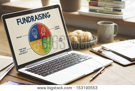 Fundraising Capital Donation Funds Support Concept