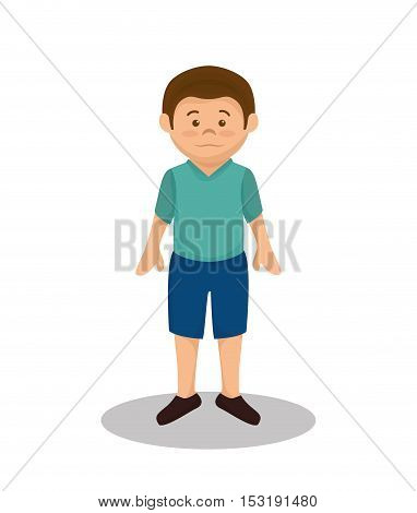 little boy son family member vector illustration design