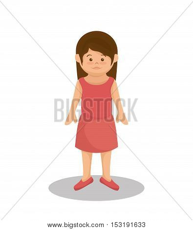 little girl family member vector illustration design
