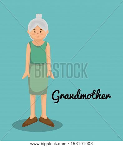 grandmother avatar character member vector illustration design