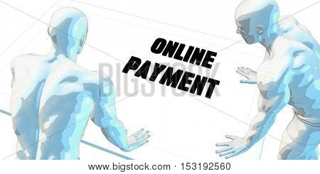 Online Payment Discussion and Business Meeting Concept Art 3D Illustration Render