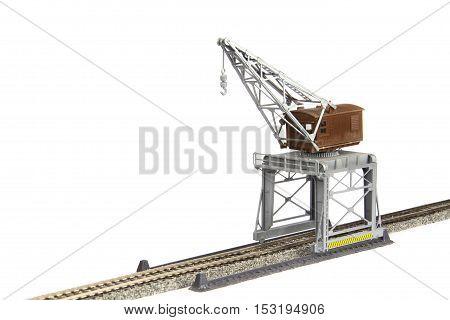 Toy Railroad Crane