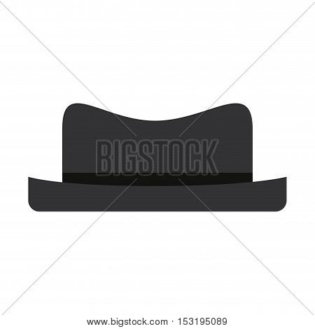 black hat icon. man clothes accessory over white background. vector illustration