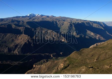 Cotahuasi Canyon Peru panoramic view, one of the deepest and most beautiful canyons in the world