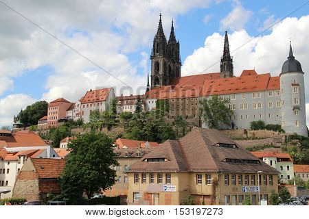 Beautiful view of Meissen old town Germany