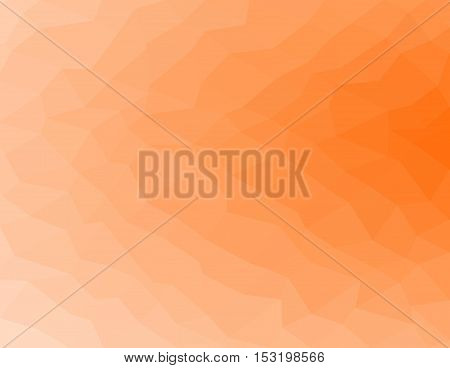 Orange geometric rumpled background. Low poly style gradient illustration. Graphic background.