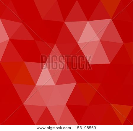 Red geometric rumpled background. Low poly style gradient illustration. Graphic background.