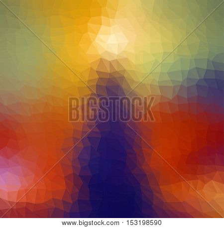 Multicolor geometric rumpled background. Low poly style gradient illustration. Graphic background.