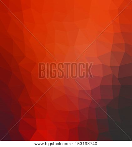 Multicolor red geometric rumpled background. Low poly style gradient illustration. Graphic background.