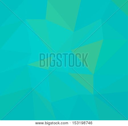 Blue and Green geometric rumpled background. Low poly style gradient illustration. Graphic background.