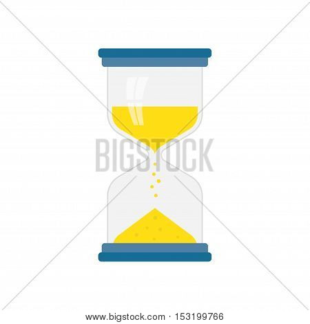 hourglass icon flat Simple and elegant hourglass vector