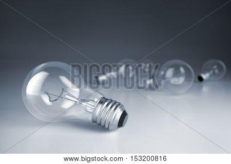 Lamp bulbs. 3D illustration