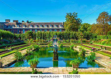 London, UK - September 30, 2016 - The guarden in Kensington Palace