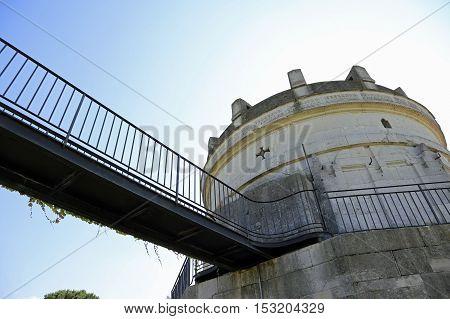 Suspension Bridge To Visit The Famous Mausoleum Of Theodoric In