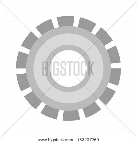 metal gear wheel over white background. vector illustration