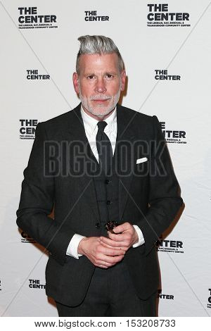 NEW YORK-APR 2: Designer Nick Wooster attends the 2015 Center Dinner at Cipriani Wall Street on April 2, 2015 in New York City.