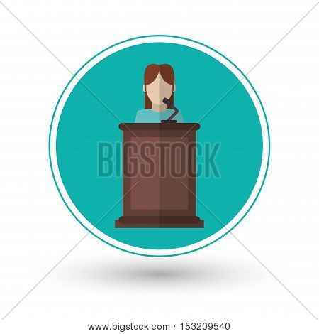 Witness icon. Law justice legal and judgment theme. Colorful design. Vector illustration